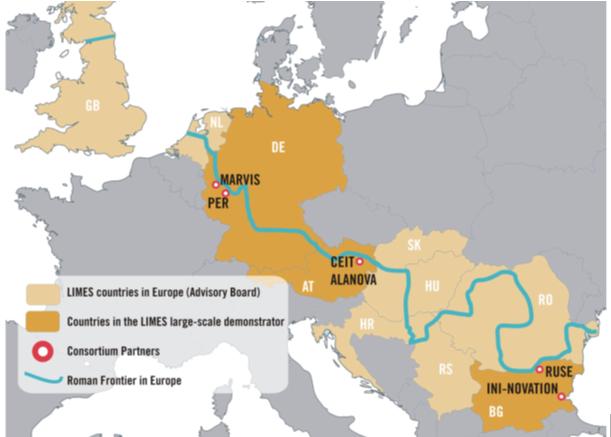 Die LIMES Partner am Römischen Limes in Europa